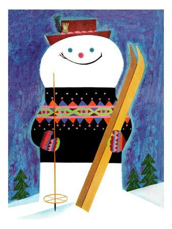 Smiley Snowman - Jack and Jill, January 1957