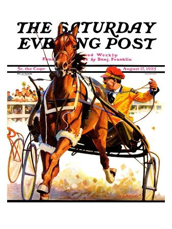 """""""Harness Race,"""" Saturday Evening Post Cover, August 17, 1935"""