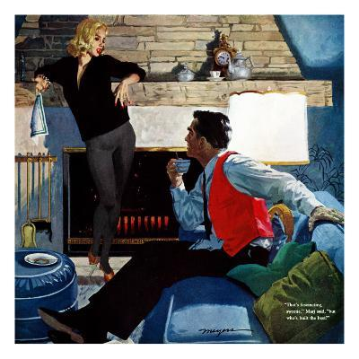 """What Husbands Don't Know - Saturday Evening Post """"Men at the Top"""", April 25, 1959 pg.26"""