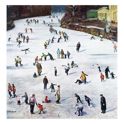 """Fox River Ice-Skating"", January 11, 1958"