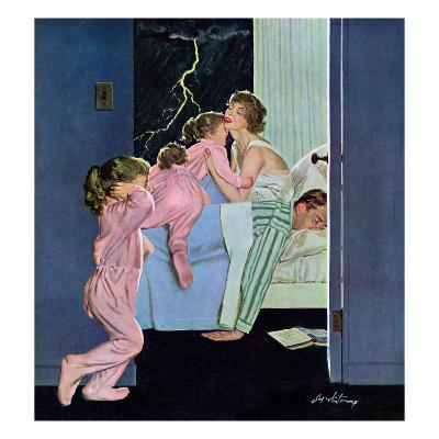 """Lighting Storm"", March 22, 1958"