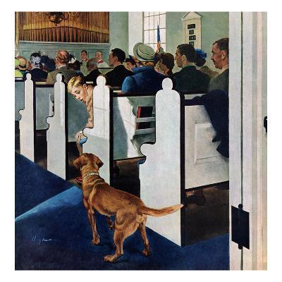 """Dog Walks Down Aisle of Church"", March 24, 1956"