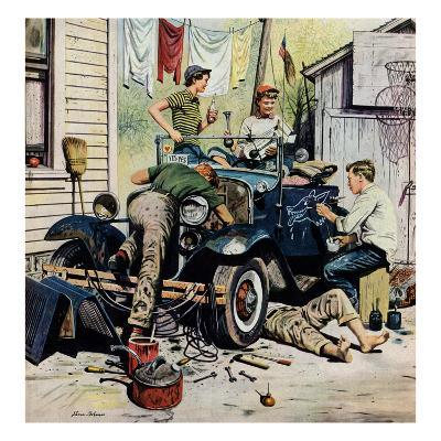 """Working on the Jalopy"", May 20, 1950"