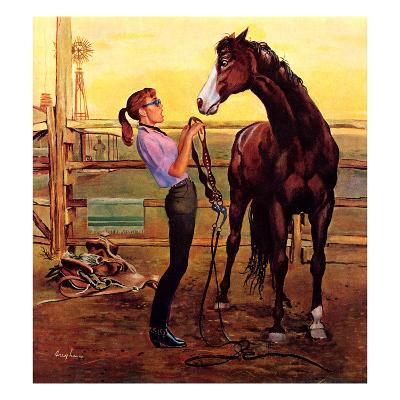 """""""Putting on the Bridle"""", July 20, 1957"""