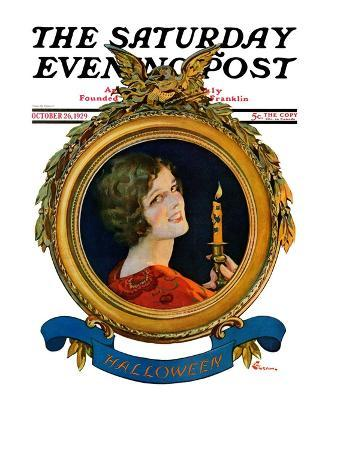 """Reflections of Halloween,"" Saturday Evening Post Cover, October 26, 1929"
