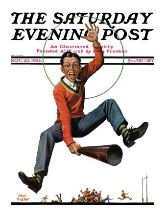 """""""Touchdown,"""" Saturday Evening Post Cover, November 20, 1926"""