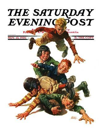 """Tackle,"" Saturday Evening Post Cover, November 13, 1926"