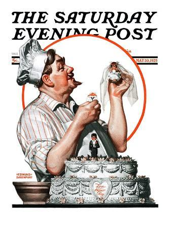 """""""Wedding Cake,"""" Saturday Evening Post Cover, May 30, 1925"""
