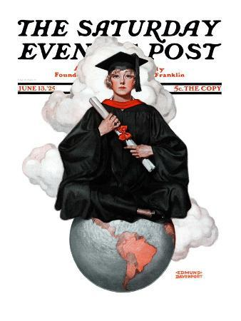 """""""Graduate on Top of the World,"""" Saturday Evening Post Cover, June 13, 1925"""