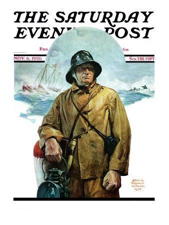 """Storm at Sea,"" Saturday Evening Post Cover, November 6, 1926"