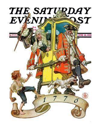 """""""Independant Action,"""" Saturday Evening Post Cover, June 30, 1928"""
