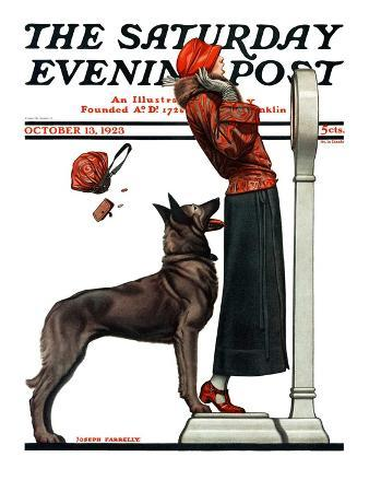 """""""Tipping the Scales,"""" Saturday Evening Post Cover, October 13, 1923"""