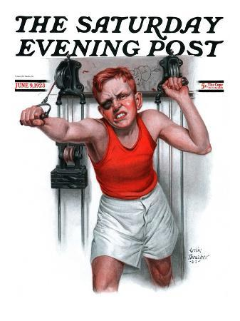 """Readying for Rematch,"" Saturday Evening Post Cover, June 9, 1923"