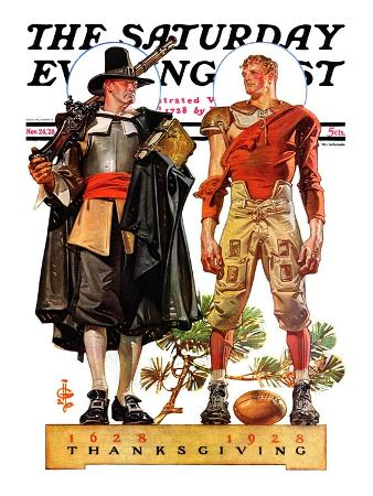 """Thanksgiving, 1628/1928,"" Saturday Evening Post Cover, November 24, 1928"