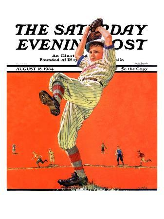 """""""The Windup,"""" Saturday Evening Post Cover, August 18, 1934"""