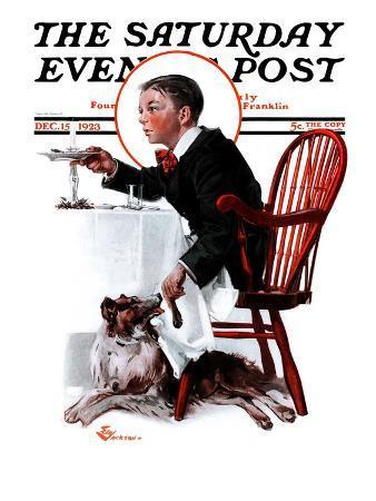 """Table Scraps,"" Saturday Evening Post Cover, December 15, 1923"