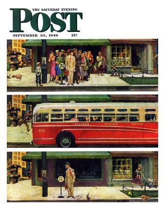 """Missed the Bus,"" Saturday Evening Post Cover, September 10, 1949"