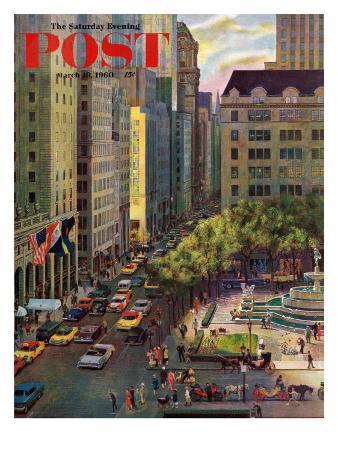 """Fifth Avenue,"" Saturday Evening Post Cover, March 19, 1960"
