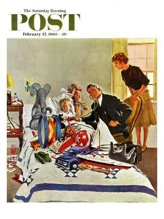 """""""Housecall,"""" Saturday Evening Post Cover, February 27, 1960"""