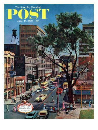 """""""Peachtree Street,"""" Saturday Evening Post Cover, June 25, 1960"""