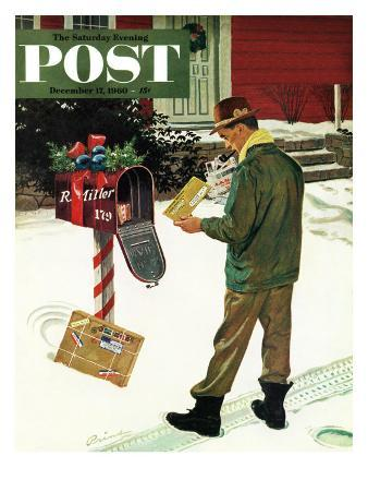 """""""Merry Christmas from the IRS,"""" Saturday Evening Post Cover, December 17, 1960"""
