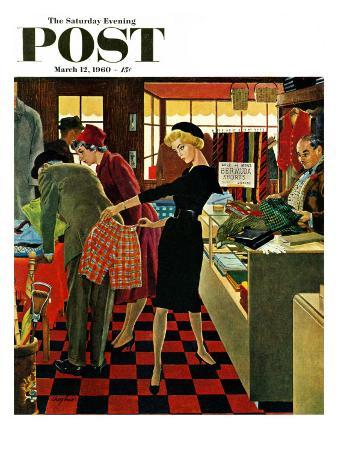 """Bermuda Shorts,"" Saturday Evening Post Cover, March 12, 1960"