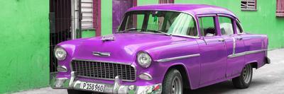Cuba Fuerte Collection Panoramic - Beautiful Classic American Purple Car