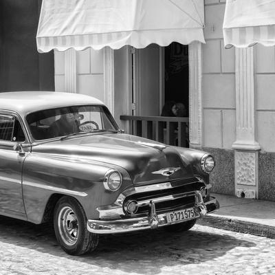 Cuba Fuerte Collection SQ BW - Close-up of Cuban Taxi Trinidad II