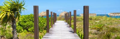 Cuba Fuerte Collection Panoramic - Wooden Jetty on the Beach