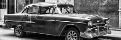 Cuba Fuerte Collection Panoramic BW - Old Chevy II