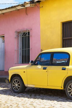 Cuba Fuerte Collection - Yellow Car in Trinidad II