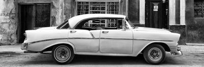 Cuba Fuerte Collection Panoramic BW - Vintage American Car II