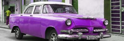 Cuba Fuerte Collection Panoramic - Classic Purple Car