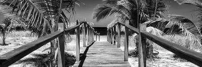 Cuba Fuerte Collection Panoramic BW - Wooden Jetty on the Beach