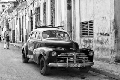 Cuba Fuerte Collection B&W - Old Chevy in Havana II