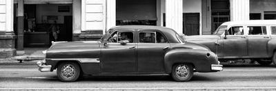 Cuba Fuerte Collection Panoramic BW - Havana Red Car