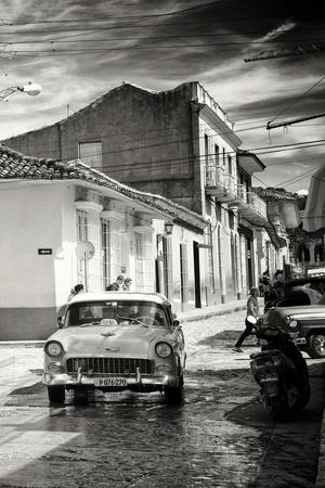 Cuba Fuerte Collection B&W - Taxi Trinidad