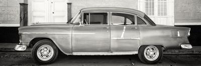Cuba Fuerte Collection Panoramic BW - Retro Classic Car