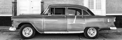 Cuba Fuerte Collection Panoramic BW - Retro Classic Car II