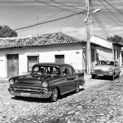 Cuba Fuerte Collection SQ BW - Cuban Taxis