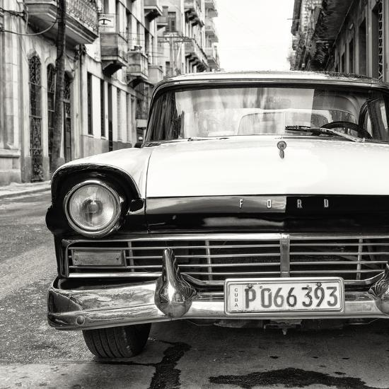 Cuba Fuerte Collection Sq Bw Old Ford Car Photographic Print By