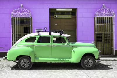 Cuba Fuerte Collection - Green Vintage Car Trinidad