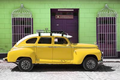 Cuba Fuerte Collection - Yellow Vintage Car