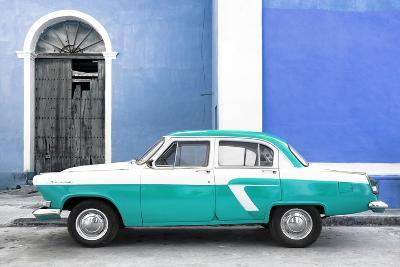 Cuba Fuerte Collection - American Classic Car White and Turquoise