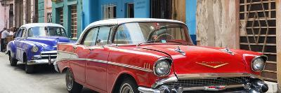 Cuba Fuerte Collection Panoramic - Old Cars Chevrolet Red and Purple