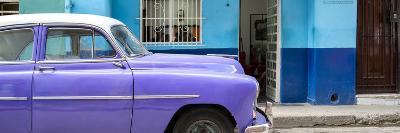 Cuba Fuerte Collection Panoramic - Vintage Purple Car of Havana