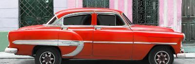 Cuba Fuerte Collection Panoramic - Red Bel Air Classic Car
