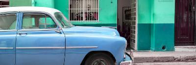 Cuba Fuerte Collection Panoramic - Vintage Blue Car of Havana