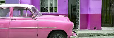 Cuba Fuerte Collection Panoramic - Vintage Pink Car of Havana