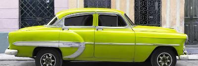 Cuba Fuerte Collection Panoramic - Lime Green Bel Air Classic Car